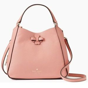 KATE SPADE Triple Satchel Bag Peachy Rose Pink